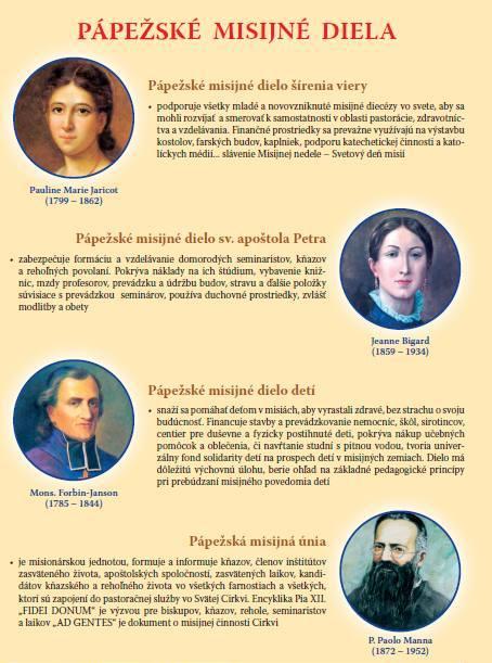 zakladatelia Pápežských misijných diel